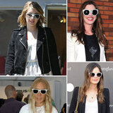 Here are just a few celebs to inspire you to test drive white sunglasses in time for Summer.