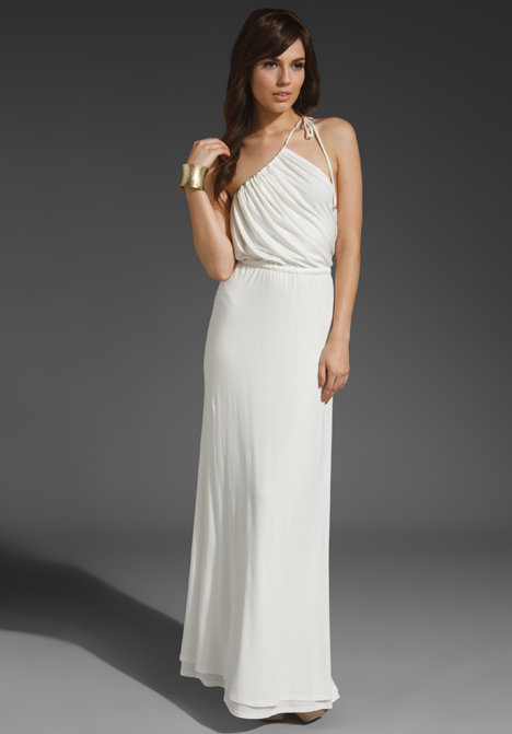 Holy Tee Gia Draped Bodice Gown ($321)
