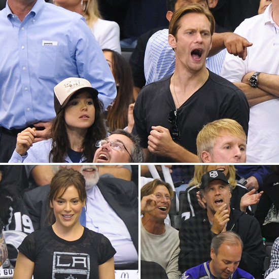 Ellen Page, Alexander Skarsgård and More Show Their LA Kings Pride