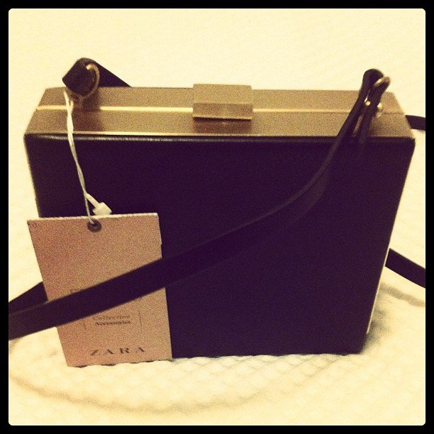 "Associate ed Alison found her ""perfect small bag"" at Zara. Such a steal at $60."