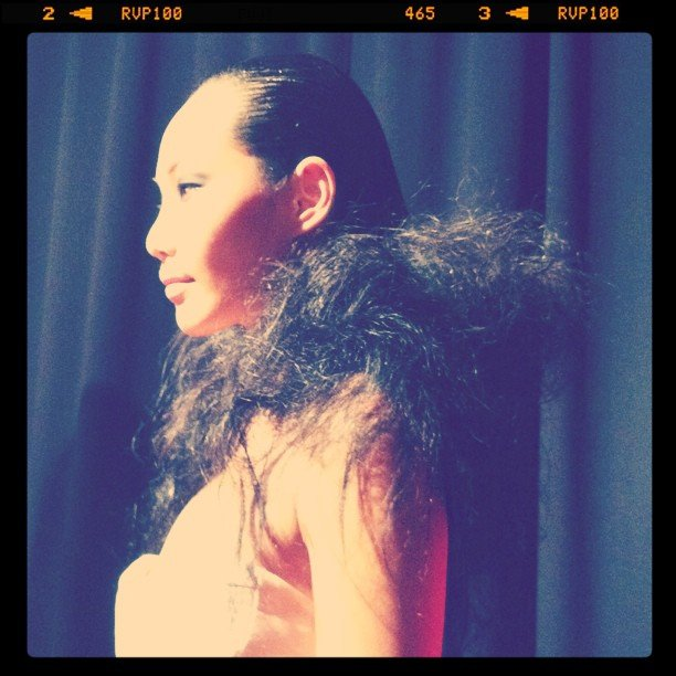 High fashion hair by Snowden Hill at the Fudge event this week.