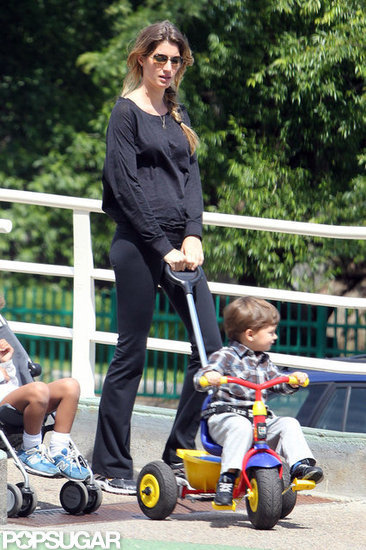 Gisele Returns to Boston and Her Park Playdates With Ben