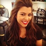 Kourtney Kardashian looked amazing with a red lip.