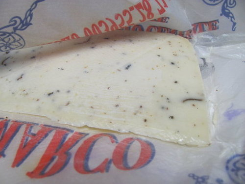 Pecorino Romano with Black Truffle Flakes