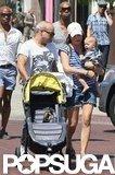 Selma Blair and her boyfriend, Jason Bleick, took little Arthur out in LA.