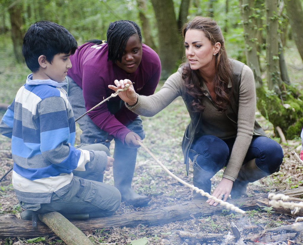 Kate Middleton hung out with children from Expanding Horizons primary school outdoor camp.