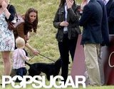 Prince William Gives Lupo a Big Kiss Alongside Kate Middleton