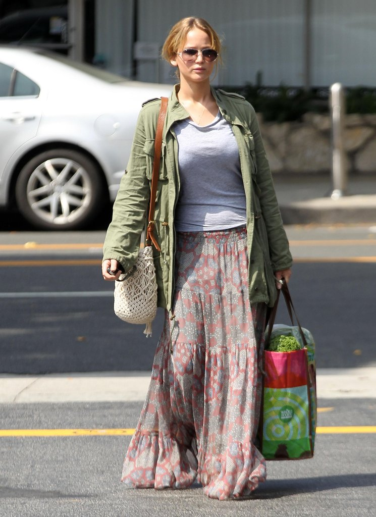 Jennifer Lawrence looked hippie-chic in LA.