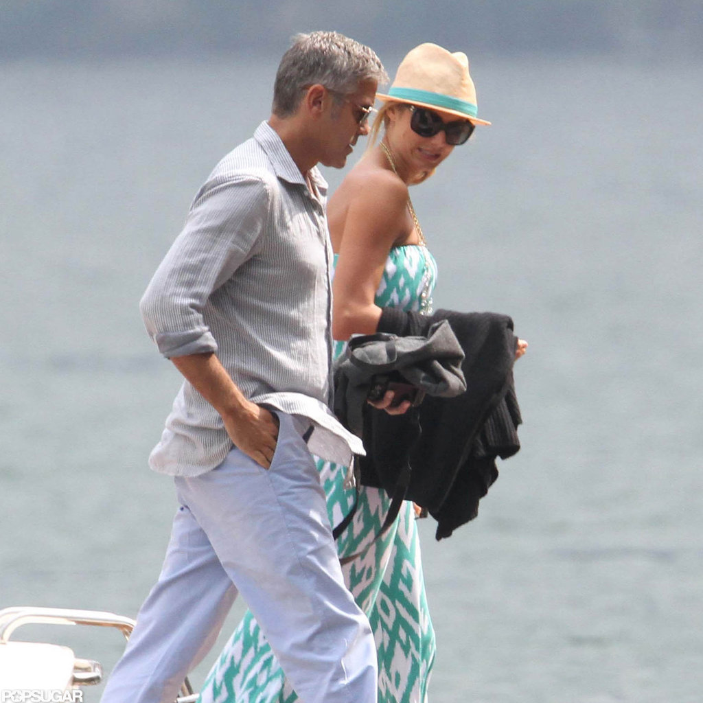 George Clooney and Stacy Keibler vacationed in Lake Como.