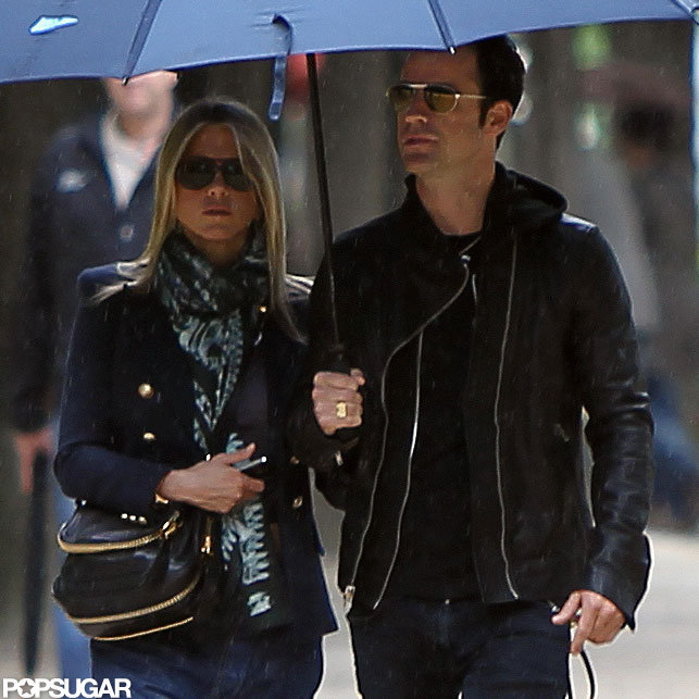 Jennifer Aniston and Justin Theroux walked in Paris.