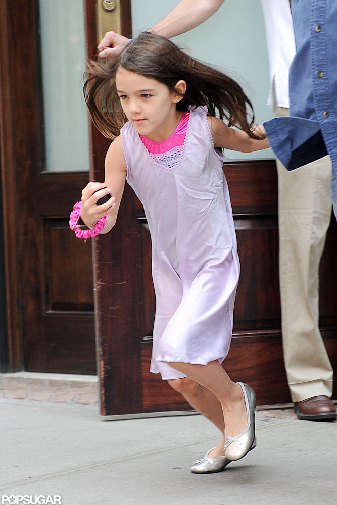Suri Cruise was in a hurry to get going in NYC.