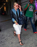 Ashley Olsen pictured in Birkenstocks.
