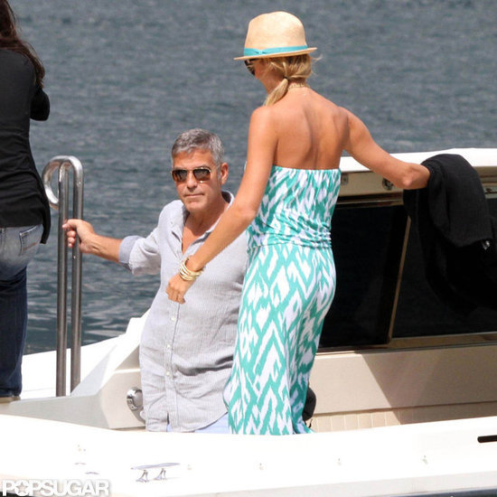 George Clooney and Stacy Keibler Continue Their Couples Fun in Lake Como