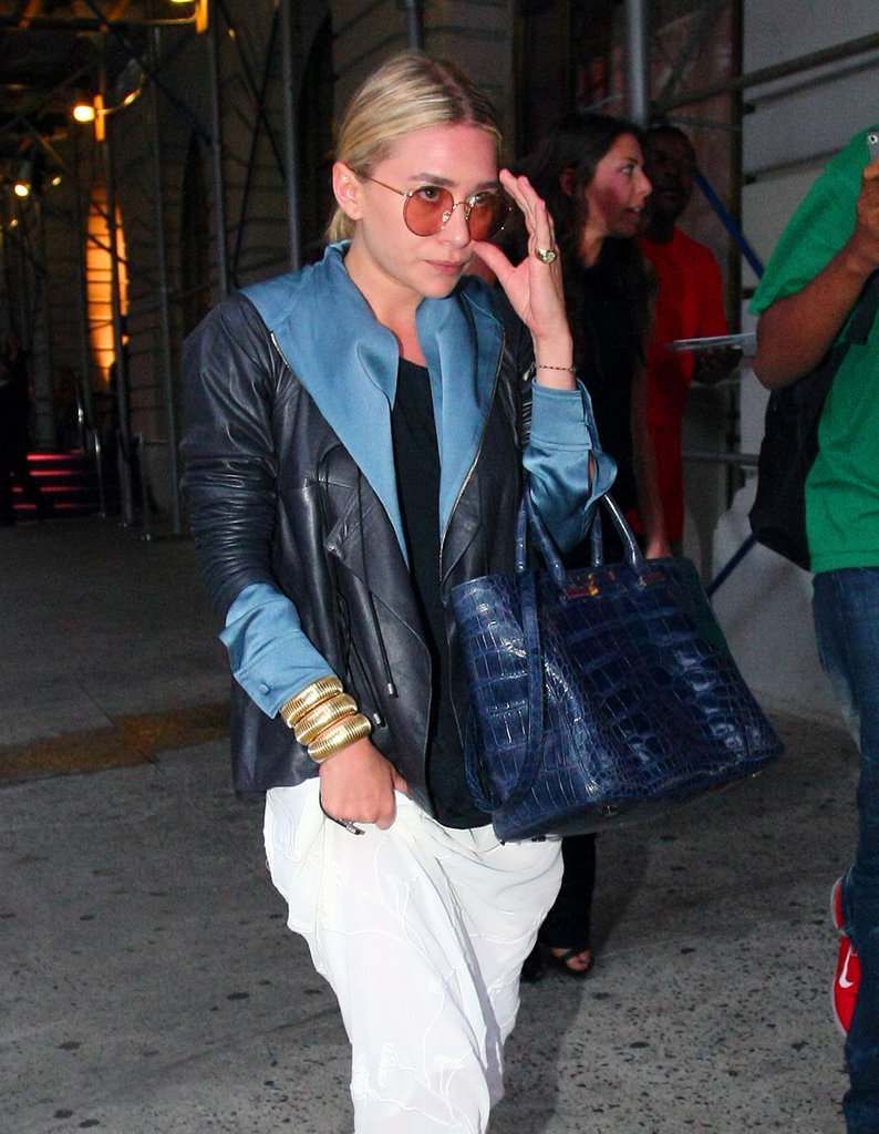 Ashley Olsen pictured solo on an NYC walk.