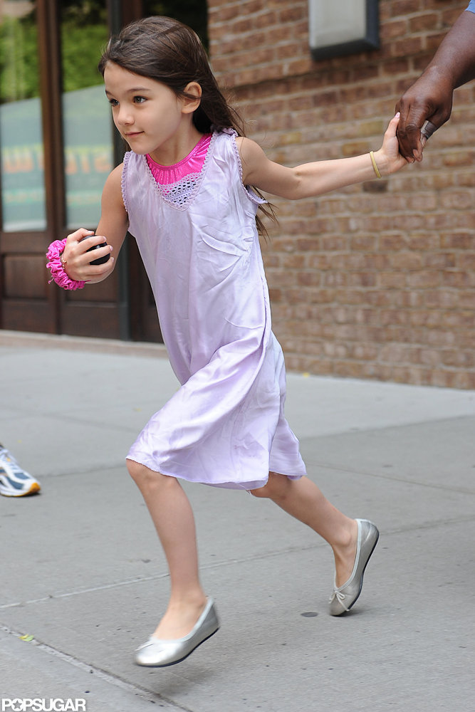 Suri Cruise was on the go in NYC.