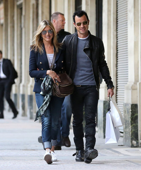 Jennifer Aniston and Justin Theroux toured Paris in June.