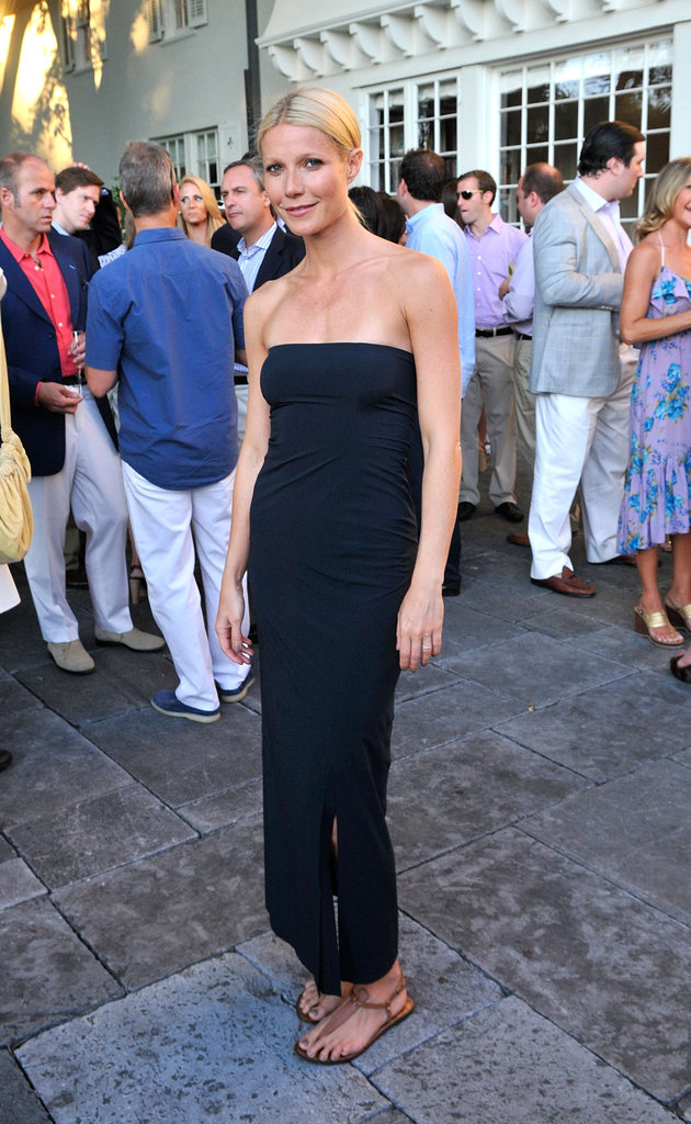 Queen of minimalist-chic Gwyneth Paltrow made a pretty convincing case for the no-fuss maxi dress at your next Summer fete.