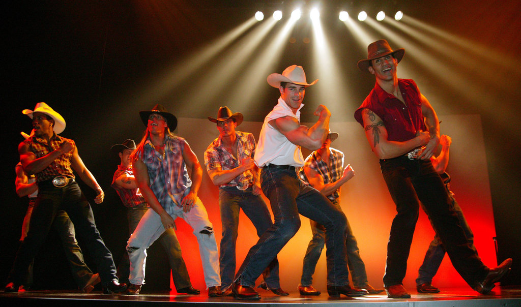 A group of Chippendales performers dressed in cowboy duds in 2005.