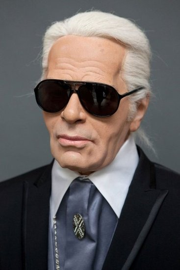 Karl Lagerfeld Wax Sculpture