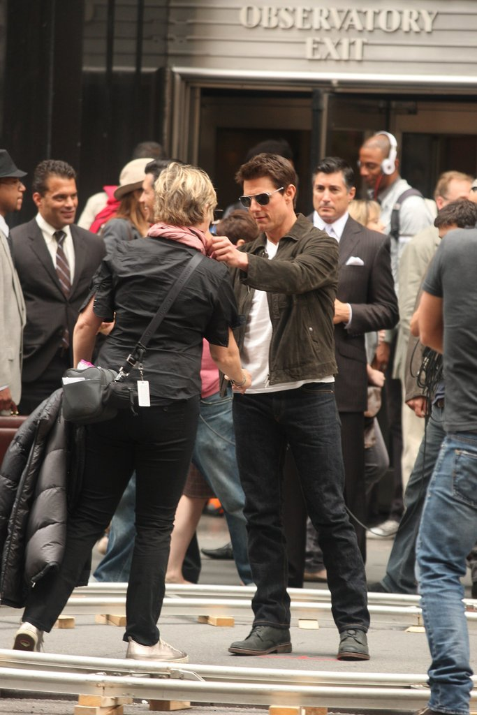 Tom Cruise reported to work in NYC.