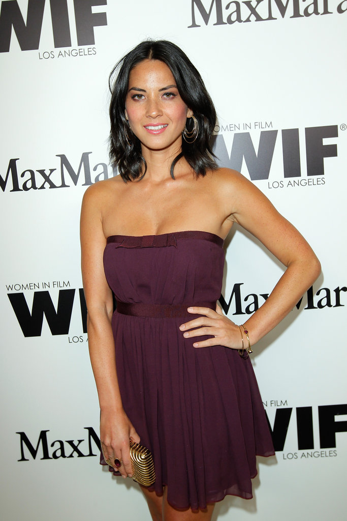 Olivia Munn posed on the red carpet.