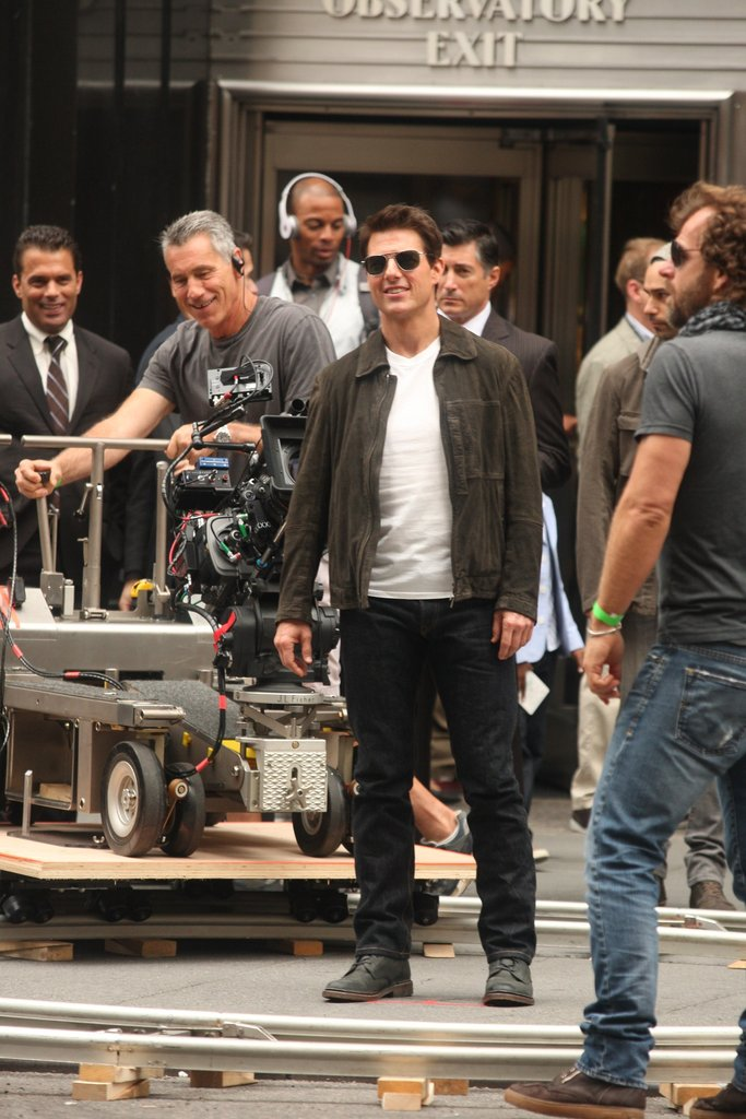 Tom Cruise filmed Oblivion in Manhattan.