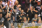 David and his boys celebrated the LA Kings Stanley Cup win in LA in June.