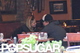 Leonardo DiCaprio and Erin Heatherton had a close conversation at NYC restaurant Candela Candela in June 2012.