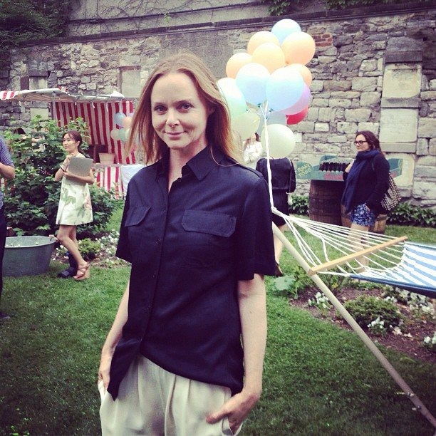 Stella McCartney posed for photos during her Resort 2013 presentation. Source: Instagram user netaporter
