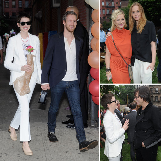 Anne Hathaway Celebrates Spring Stella With Amy Poehler