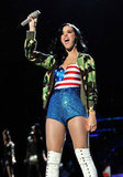 Katy Perry showed her pride while performing at the VH1 Divas Salute the Troops concert in LA in December 2010.