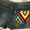 DIY: Update Your Denim Shorts With a Cool Aztec Print!