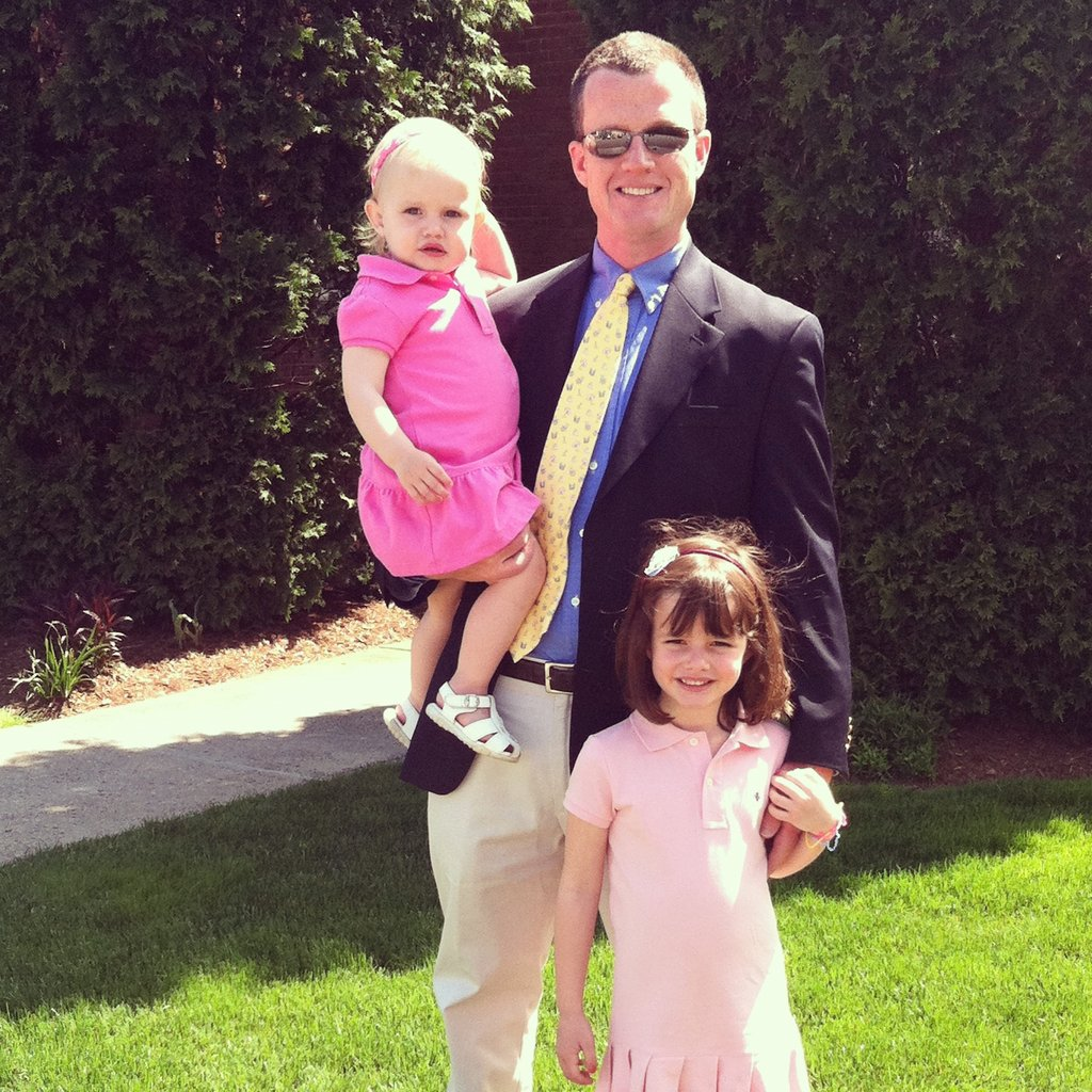 """My husband, Matt, is constantly mistaken as a member of the Kennedy family. Here he is looking stylish at his son Ethan's communion. He generally dresses for comfort in J.Crew tees, khakis, and flip flops, so we love to see him get all dapper for special occasions — although we think he looks great all the time!""  — Eileen Carty, VP, East Coast sales"