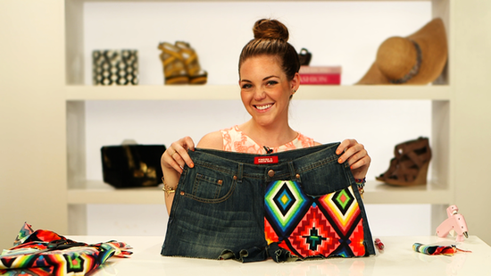 DIY: Give Your Jean Shorts a Tribal Update!
