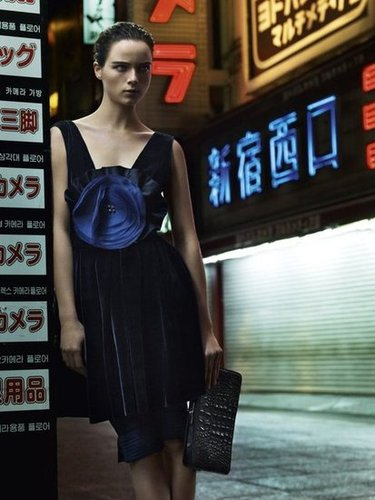 Dark, elegant, and entrenched in the Tokyo nightlife — all part of Emporio Armani's campaign ethos.