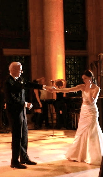 """Here is my dad, Fred, looking very dapper in his tux while dancing with me at my wedding. All eyes were on him!"" — Stacia Firestone, community manager"