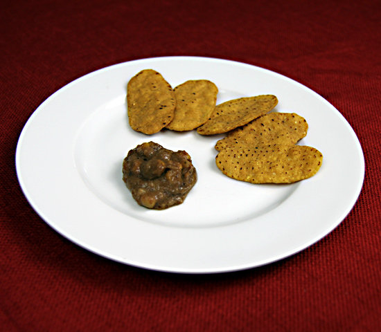 Sweet Potato Chips With Black Bean Dip