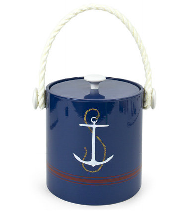Deliver ice for mixed drinks to your poolside bar in this Jonathan Adler Anchor Ice Bucket ($45).