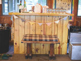 Rustic Wood Bar