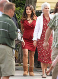 Salma Hayek was on the set of Grown Ups 2.