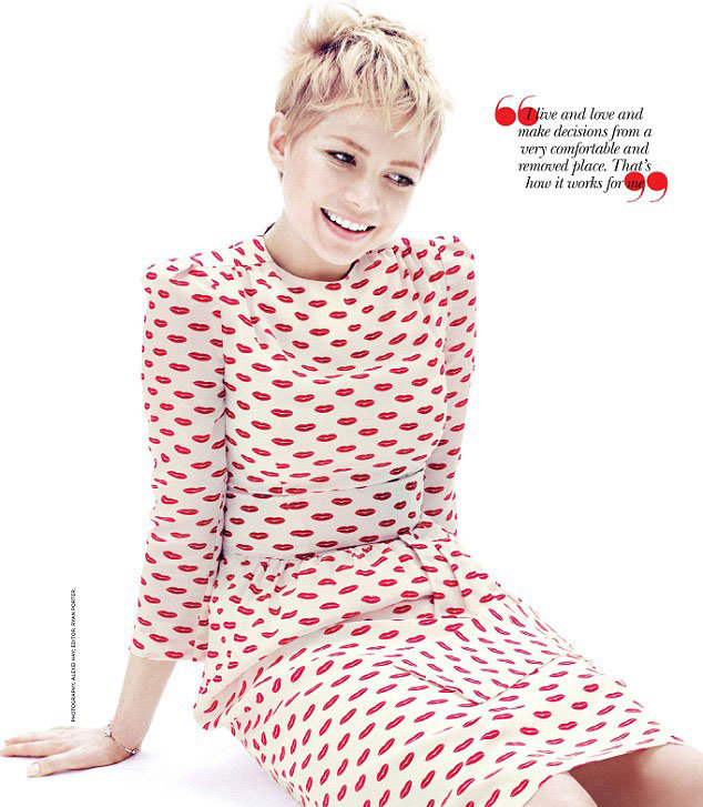 Michelle Williams was all smiles for photographer Alexei Hay.