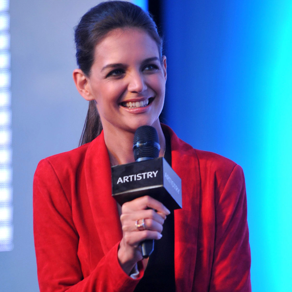 Katie Holmes was an ambassador for Artistry on Ice.