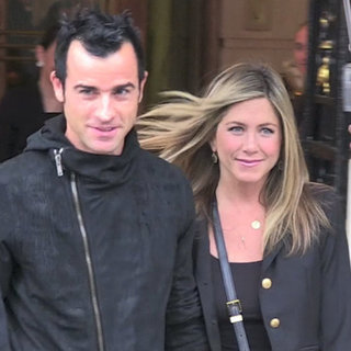 Jennifer Aniston and Justin Theroux in Paris (Video)