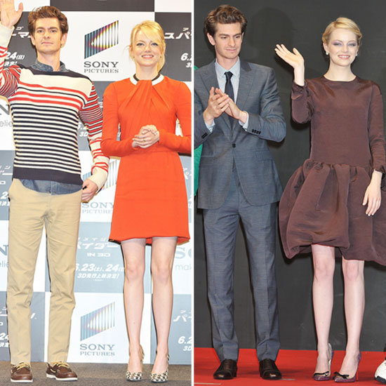Emma Stone and Andrew Garfield Double Up on Spider-Man Stops in Tokyo