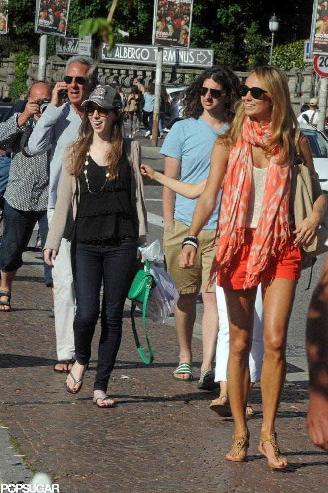 Stacy Keibler walked around Lake Como.