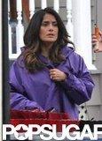 Salma Hayek was on the Boston set of Grown Ups 2.