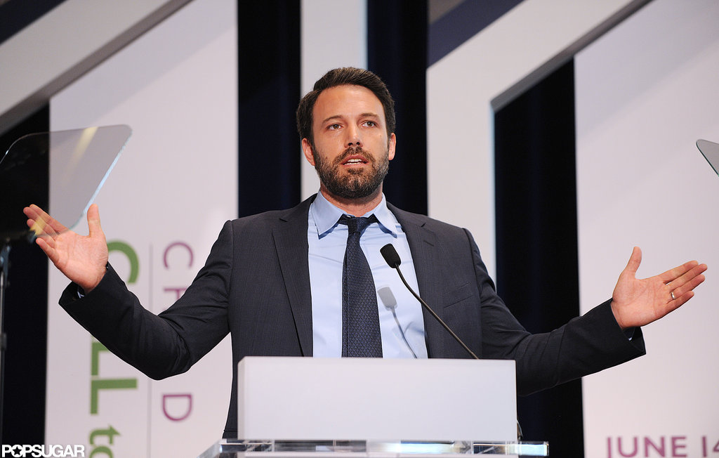 Ben Affleck spoke at a conference in Washington DC.