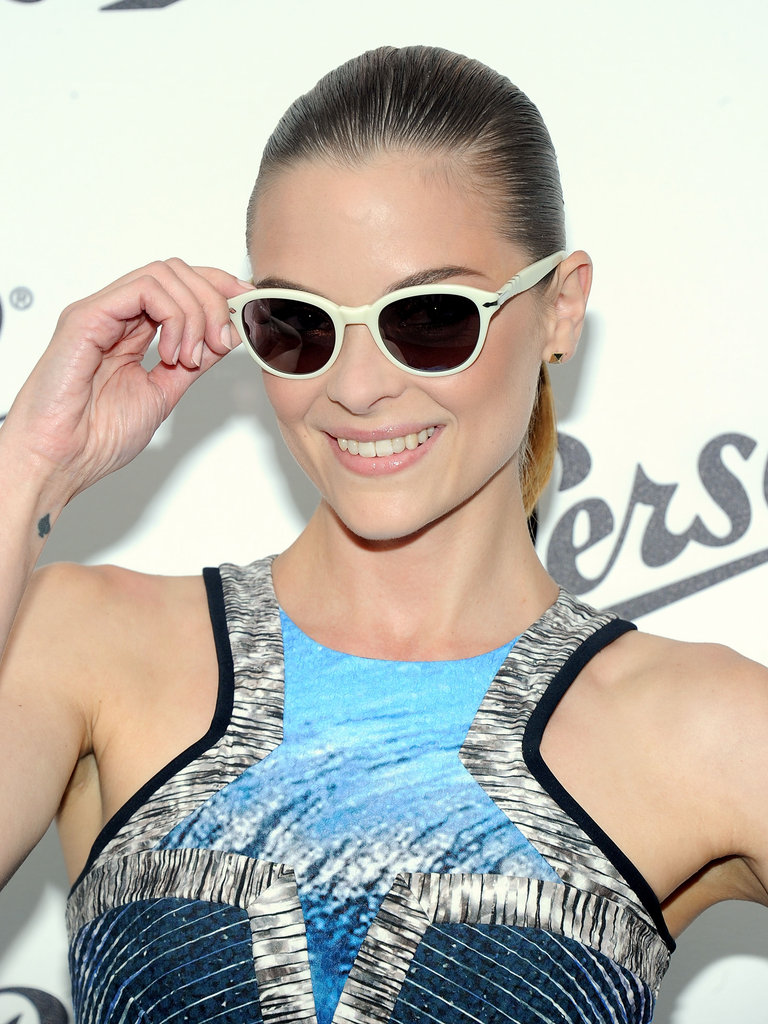Jaime King posed in sunglasses at the Persol Magnificent Obsessions event in NYC.