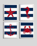 Nautical Stripes Print Set ($56 for four)