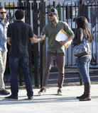 Zac Efron left a meeting with a script under his arm in LA.